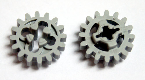 Set of 4 Technic Gears  12 Tooth Bevel   Light Bluish Gray LEGO LEGOS