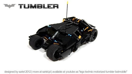 Tumbler de Batman con LEGOs
