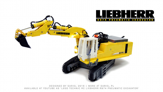 Liebherr R974 Pneumatic Excavator